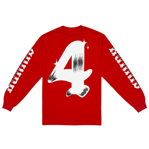 Red Grand 4 Long Sleeve - 4Hunnid