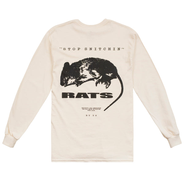 STOP SNITCHIN RATS LONG SLEEVE - 4Hunnid