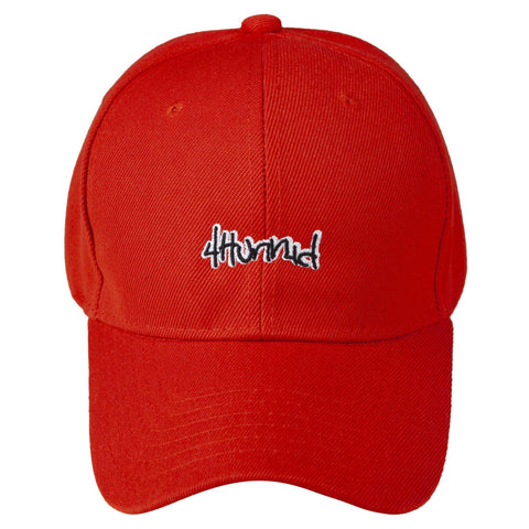 4hunnid Velcro Hat - Red bd1683e5126