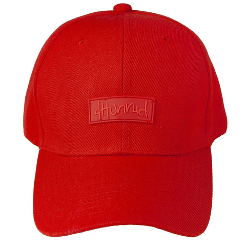 Patch Hat - Red 4Hunnid