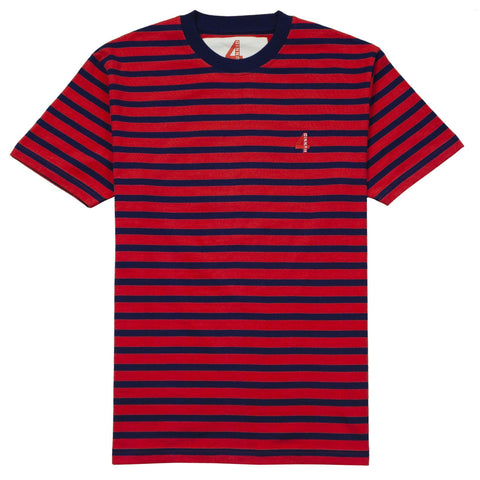 "OG Striped ""KUT & SEW"" Shirt - Red - 4Hunnid"