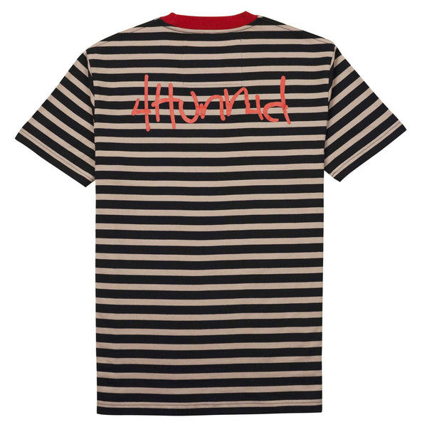 "OG Striped ""KUT & SEW"" Shirt - Black - 4Hunnid"