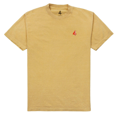 4 Patch T Shirt - Mustard Yellow 4Hunnid