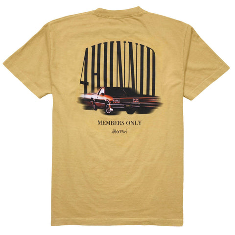 Fast Car T Shirt - Mustard Yellow 4Hunnid