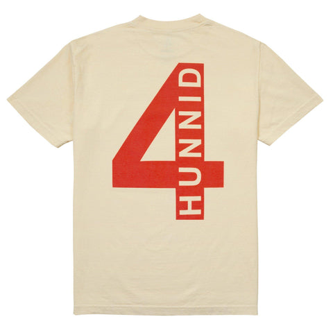 4 Back T Shirt - Cream - 4Hunnid