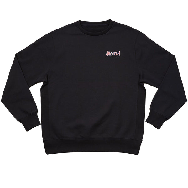 "4hunnid Hit up ""KUT & SEW"" Crewneck - Black - 4Hunnid"