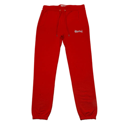 "Don't Sweat ""KUT & SEW"" Sweat Pants - Red-4Hunnid"