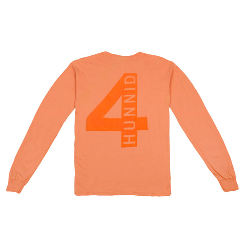 4hunnid Hit Up Long Sleeve - Orange