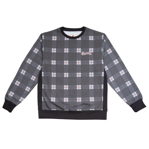 4hunnid Hit Up Kut & Sew Plaid Crewneck-4Hunnid
