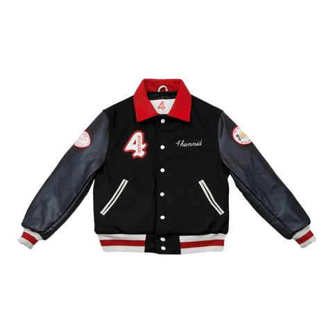 Members Only Varsity Jacket -Black - 4Hunnid