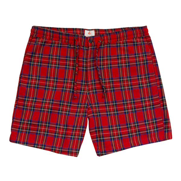 Red Plaid Shorts-4Hunnid