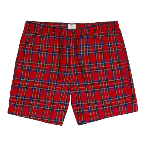 Red Plaid Shorts - 4Hunnid