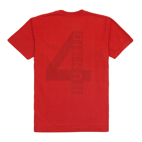 4Logo Tee, Red - 4Hunnid