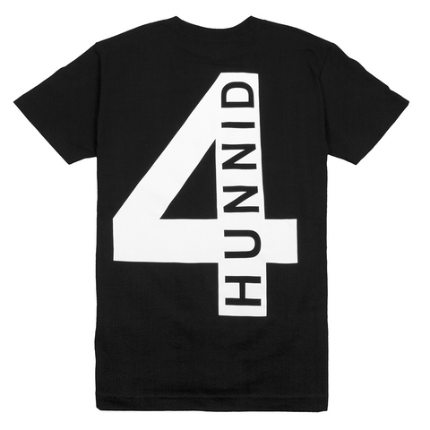 4 Back Logo Tee - Black - 4Hunnid