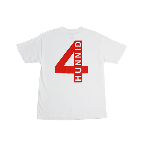 4HUNNID HIT UP TEE - WHITE