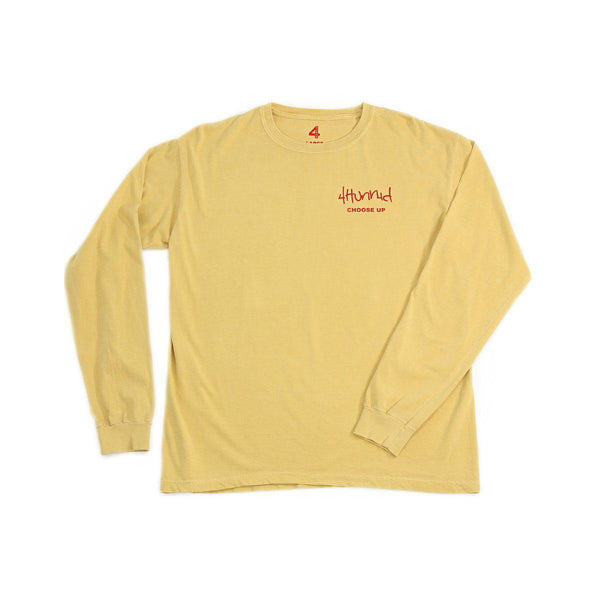 The Boogie Long Sleeve - Mustard - 4Hunnid