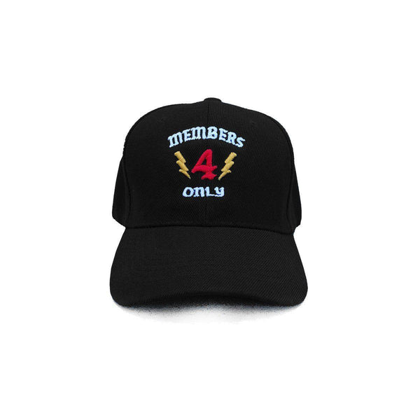 MEMBERS ONLY HAT - BLACK - 4Hunnid