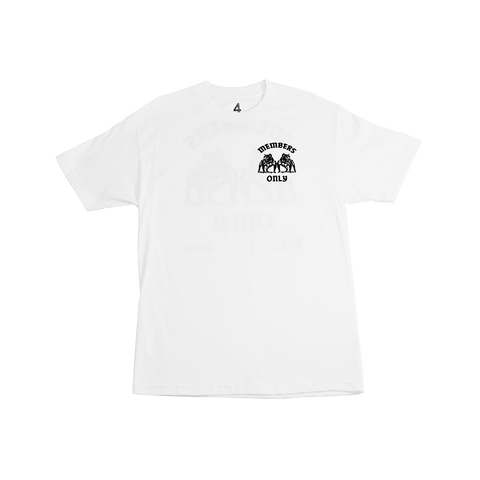 Members Only B-Dog Tee - White - 4Hunnid