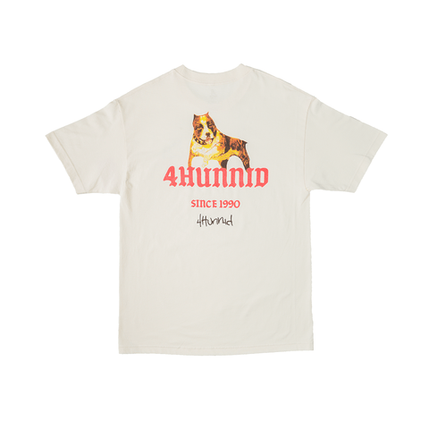 Dog 1990 Tee - Cream - 4Hunnid