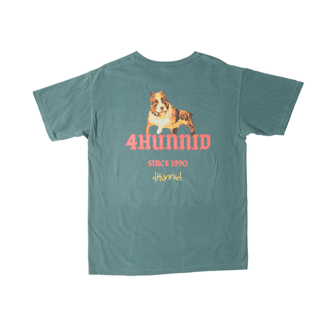 Dog 1990 Tee - Dark Teal - 4Hunnid