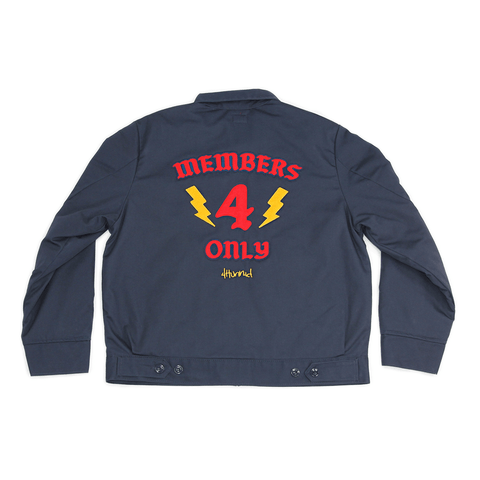 MEMBERS ONLY WORKER JACKET - NAVY - 4Hunnid