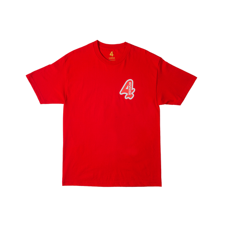 Grand 4 Tee - Red - 4Hunnid