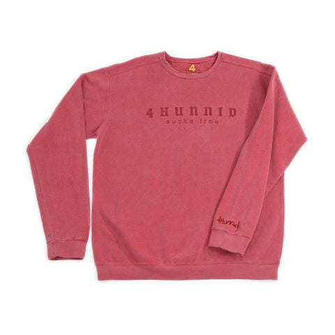 Sucka Free Crewneck - Red - 4Hunnid