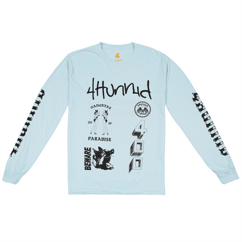 Gang Logo Long Sleeve-4Hunnid
