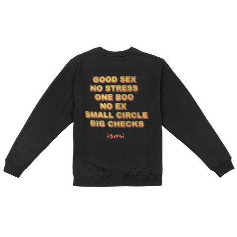 Good Sex Fleece Crewneck - Black
