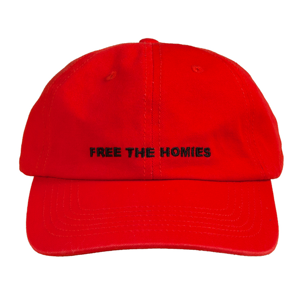Free the Homies Dad Cap - Red-4Hunnid