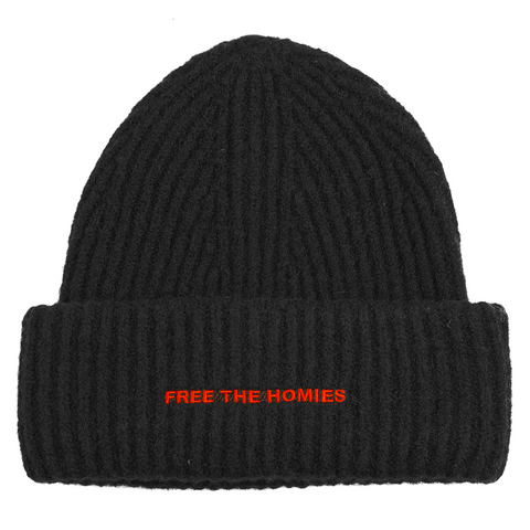 Free the Homies Beanie - Black-4Hunnid