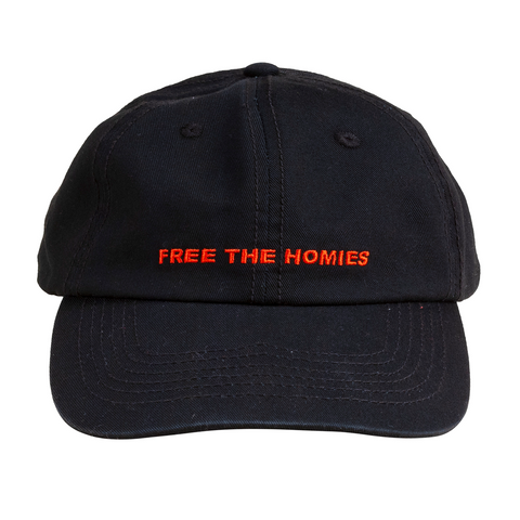 Free the Homies Dad Cap - Black-4Hunnid