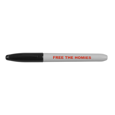 Free the Homies Sharpie - Black-4Hunnid