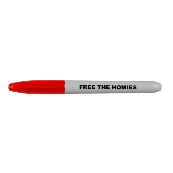 Free the Homies Sharpie - Red-4Hunnid