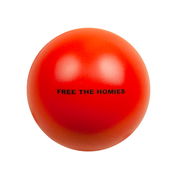 Free the Homies Stress Ball - Red-4Hunnid