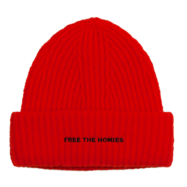 Free the Homies Beanie - Red-4Hunnid