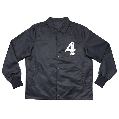 "Members Only ""KUT & SEW"" Coach Jacket - Black - 4Hunnid"