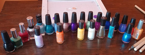 My collection of nail polish colors
