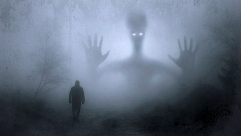 interpretation of a spirit following a man walking alone at night