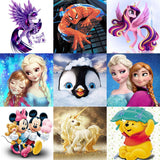 Just for Kids Cartoon DIY Diamond Painting Mosaic: 20 Variations