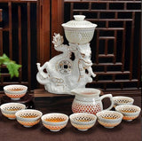 Authentic Chinese Ceramic/Porcelain Tea Set Includes 11 Pieces