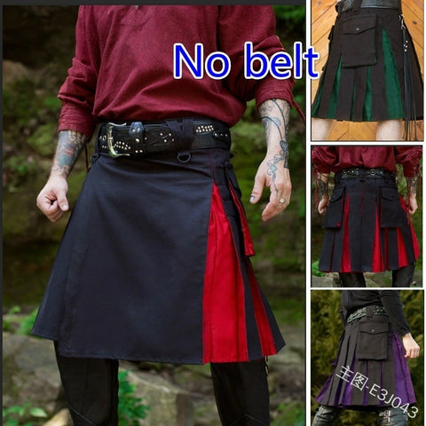 Dual Color Tactical Kilt w/Pockets & Pleats (M-3XL)