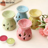 Ceramic Essential Oil Diffuser & Tealight Candle Holder in 5 Colors