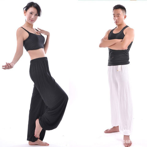 Unisex Tai Chi bloomer pants in 3 colors (Black, Blue, and White)