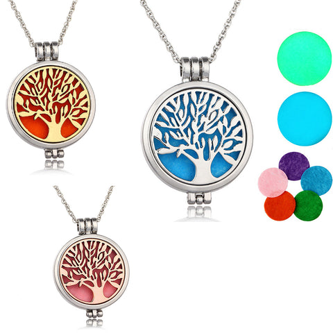 Glow-in-the-Dark Aromatherapy Locket Includes Scent Pad