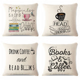 Reading & Book Themed Decorative Pillow Covers