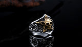 Awesome Stainless Steel Men's Pentagram Skull Ring (size 7-13)