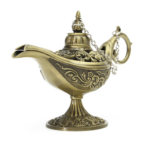Genie's Magic Lamp Vintage Oil Lamp Decor