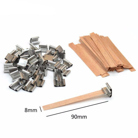 Wooden Wick Candle Core Sustainers DIY Candle Making Supplies: 50pc in 3 Sizes