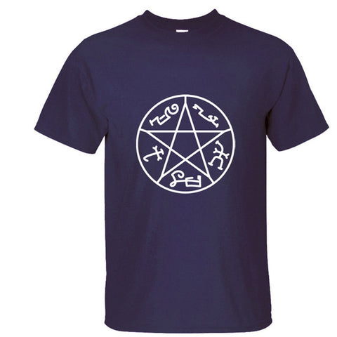 Pagan Pentagram Short Sleeve T-Shirt (12 Different Colors)